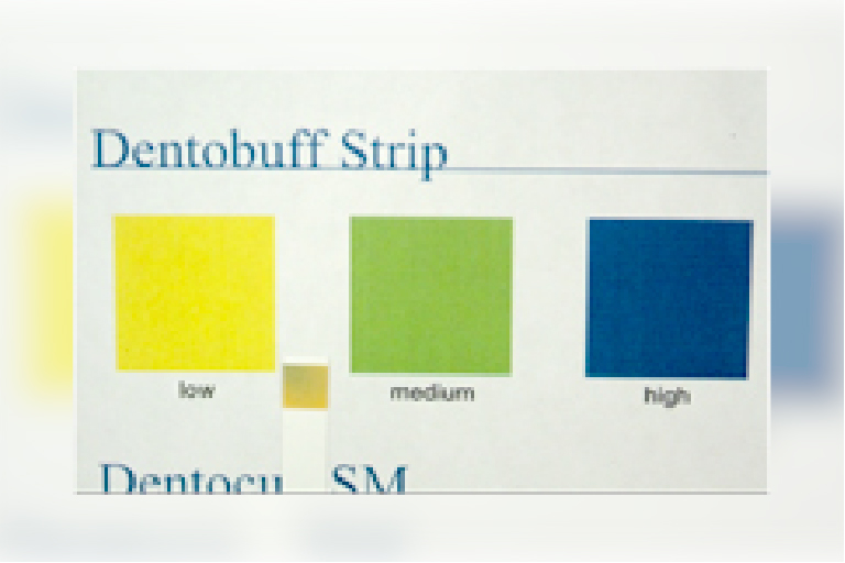 唾液の中和機能を計る「デントバフストリップ」